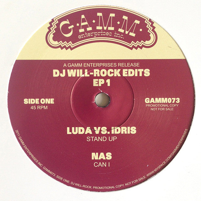 DJ Will-Rock Edits EP 1 (Ludacris, Nas, Earth Wind & Fire) 12
