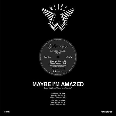 Wings: Maybe I'm Amazed  (Record Store Day) 12""