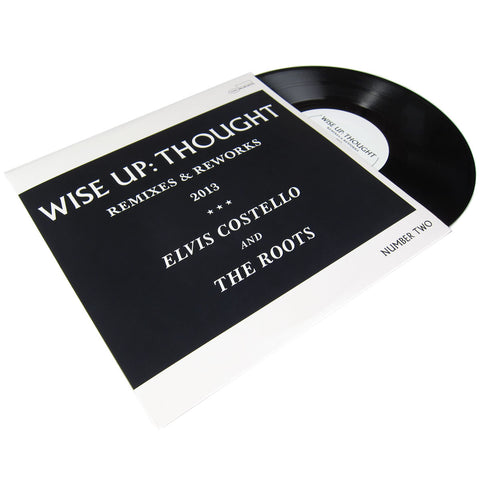 Elvis Costello and The Roots: Wise Up - Thought Remixes & Reworks (Karriem Riggins, Menahan Street Band) Vinyl 10""