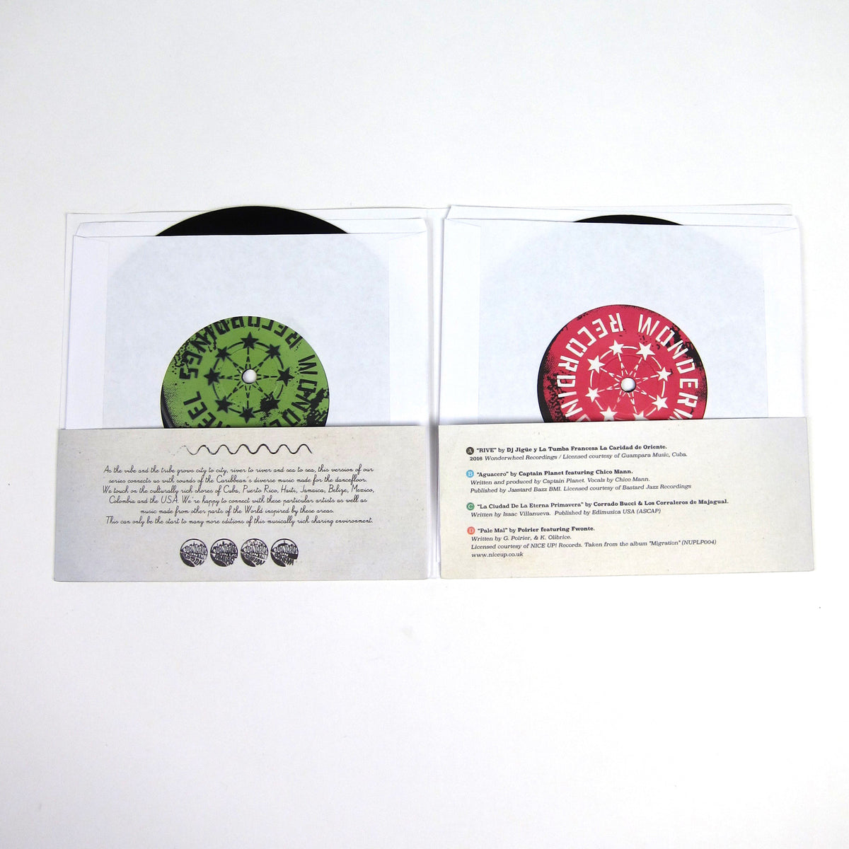 Wonderwheel Recordings: Turntables On The Caribbean Vinyl 2x7""