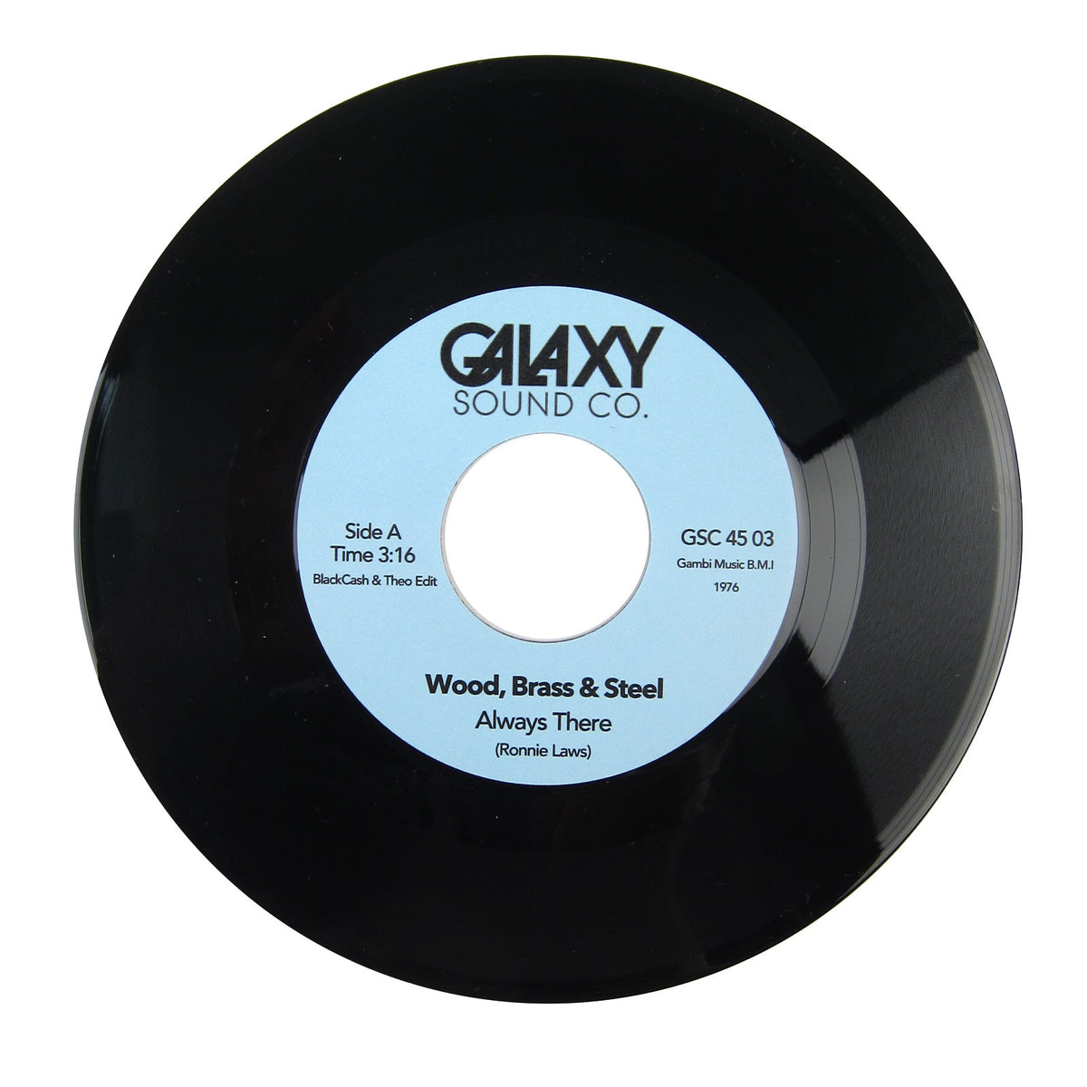 BlackCash & Theo: Galaxy Vol.3 (Wood Brass & Steel, Seaquence) Vinyl 7""
