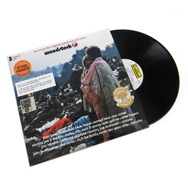 Woodstock: Woodstock Soundtrack - Mono PA Version Vinyl 3LP (Record Store Day)