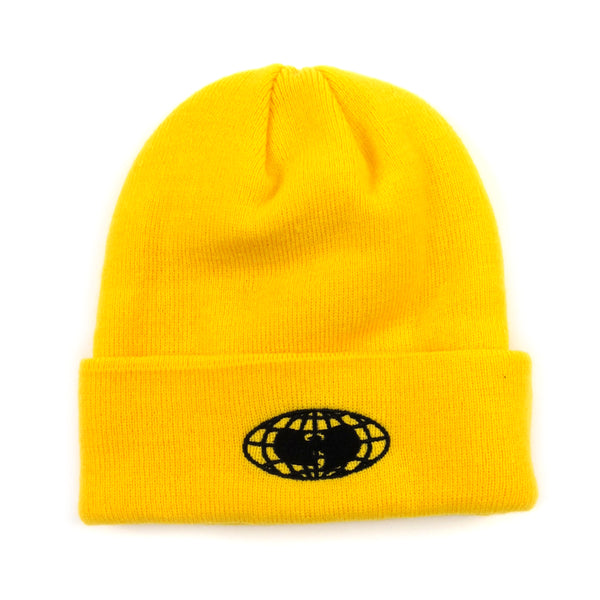 Wu Wear: Globe Logo Beanie - Yellow