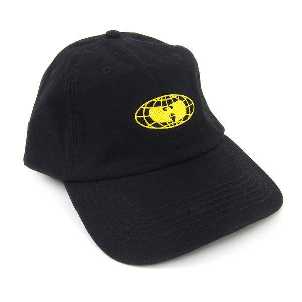 Wu Wear: Globe Logo Dad Hat - Black