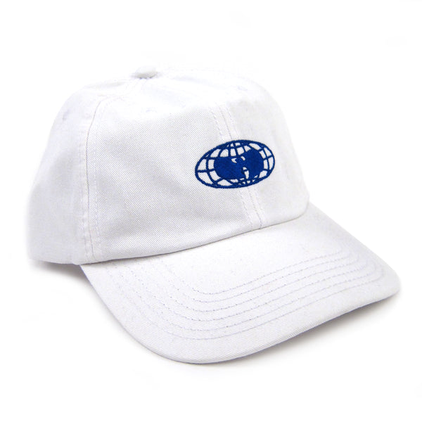 Wu Wear: Globe Logo Dad Hat - White