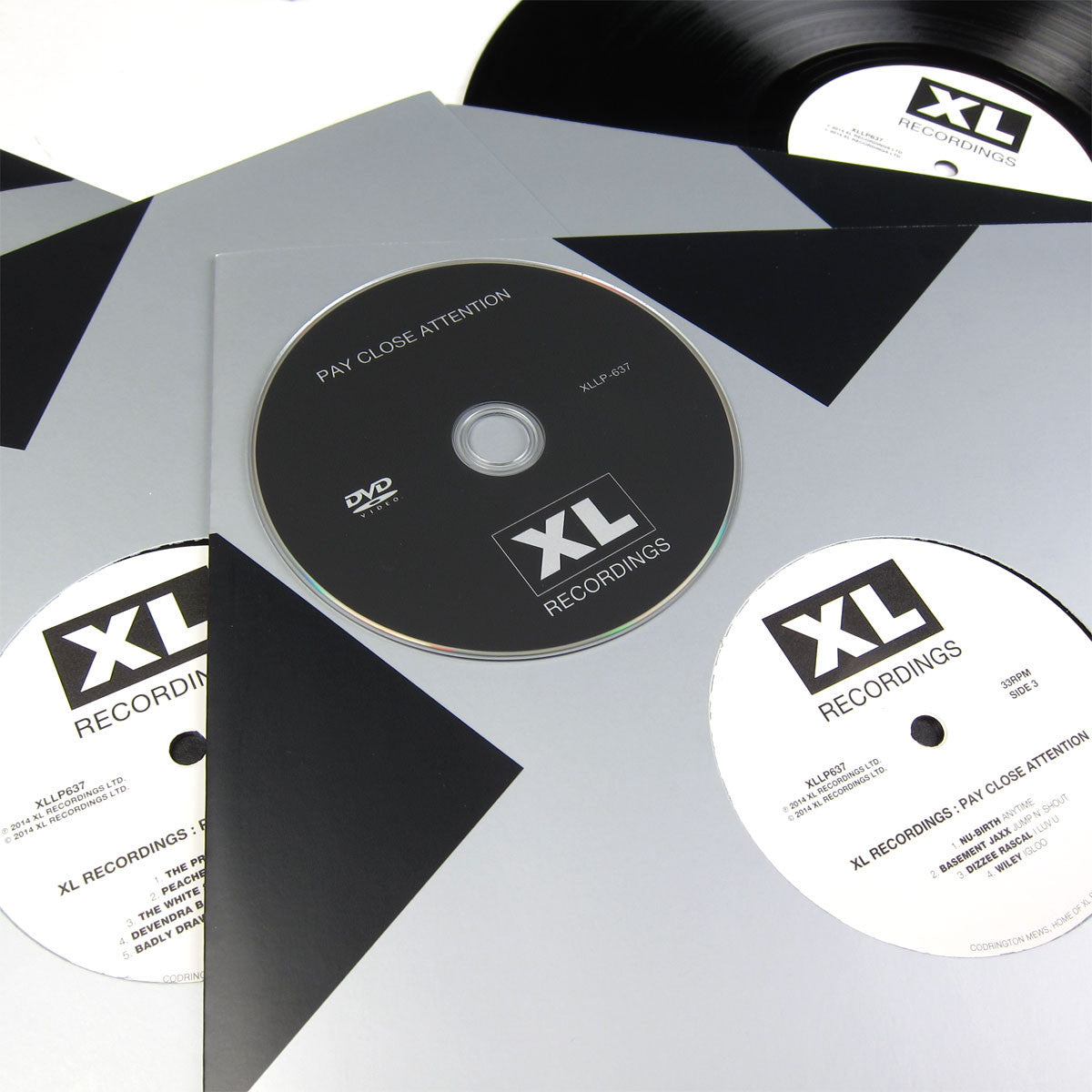 XL Recordings: Pay Close Attention Vinyl 4LP Boxset close up