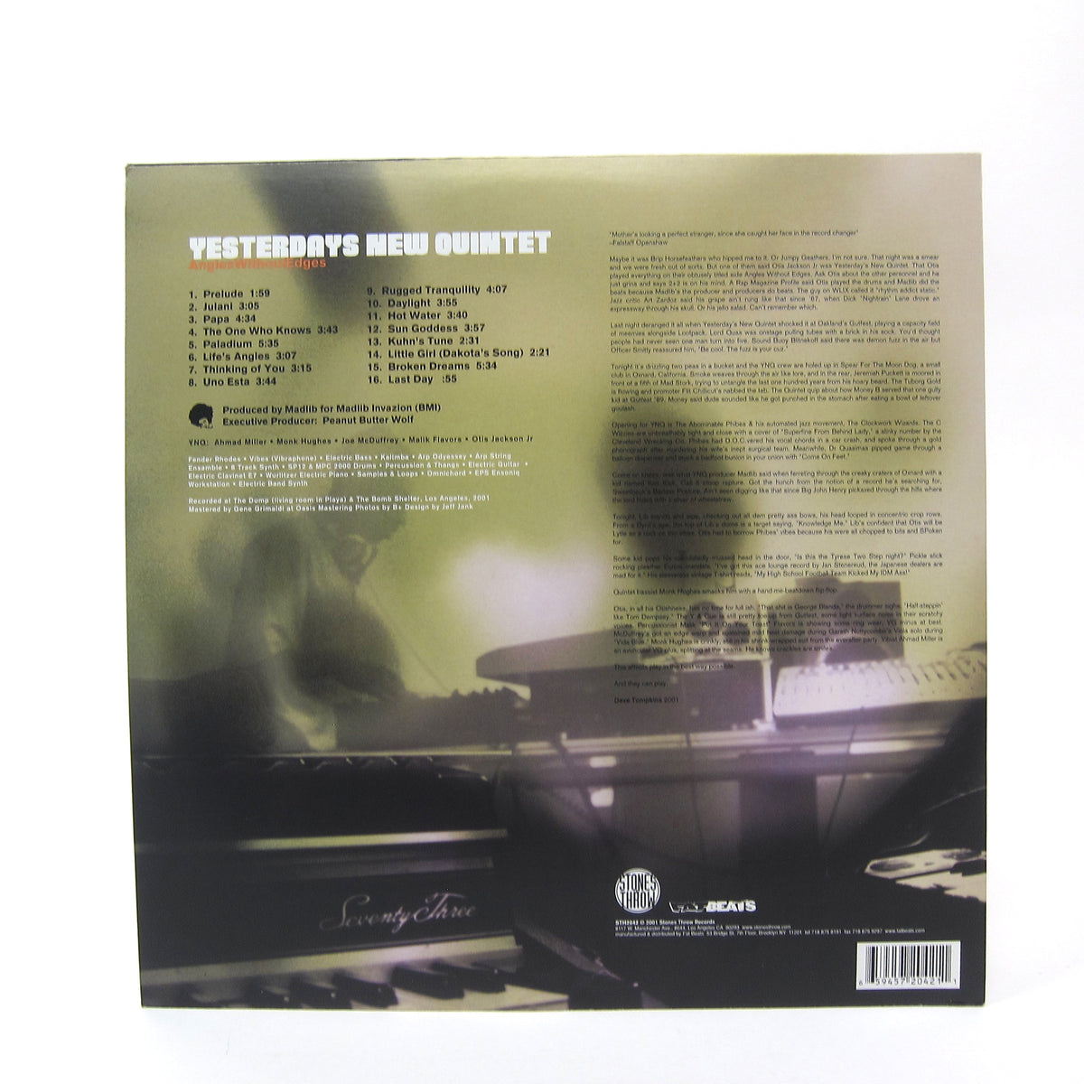Yesterday's New Quintet: Angles Without Edges (Madlib) Vinyl 2LP