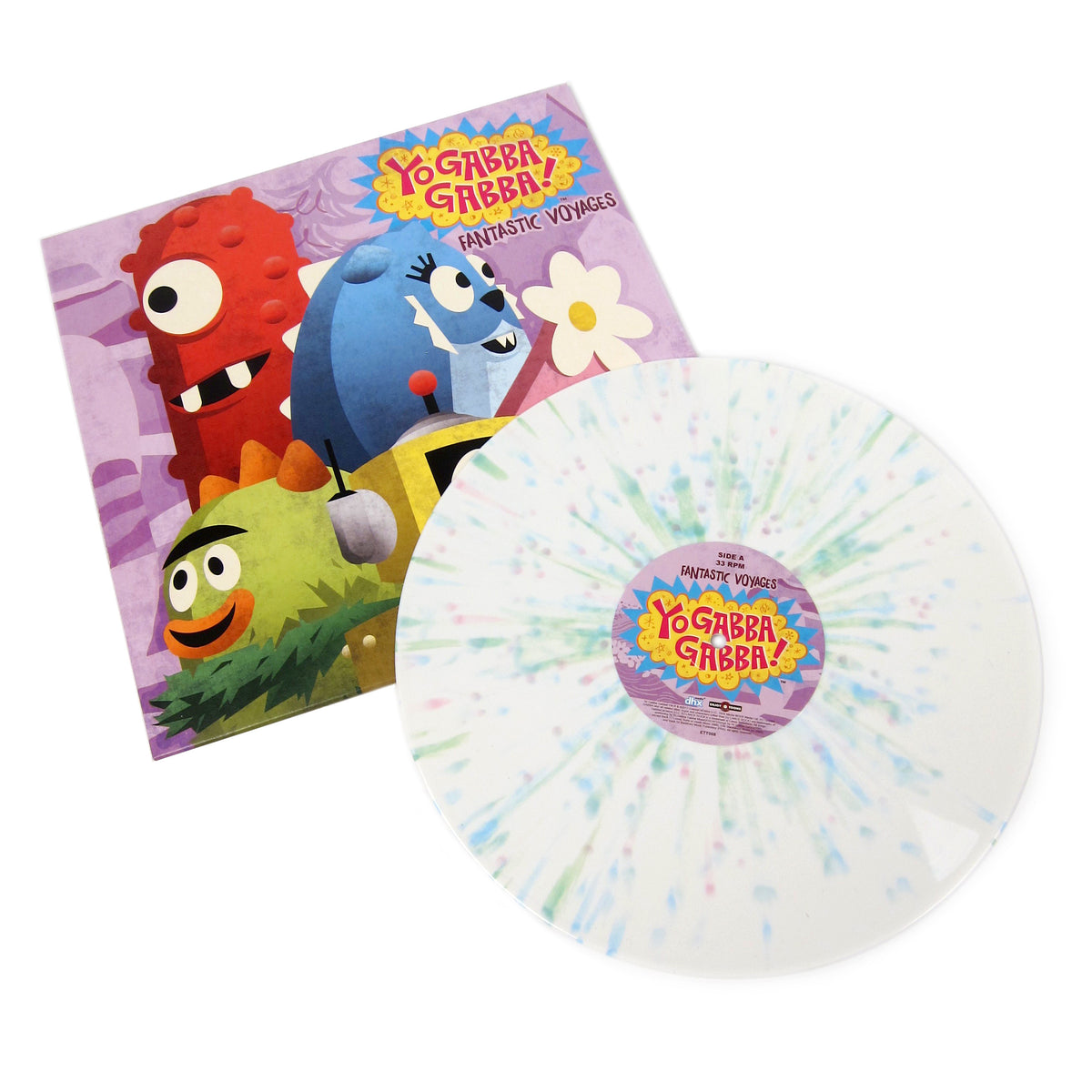 Yo Gabba Gabba: Fantastic Voyages (White Splatter Colored Vinyl) Vinyl LP - TTL Exclusive