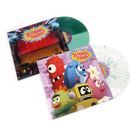 Yo Gabba Gabba: Yo Gabba Gabba Colored Vinyl LP Album Pack (Fantastic Voyages, Yo Gabba Gabba! Hey!) - TTL Exclusive