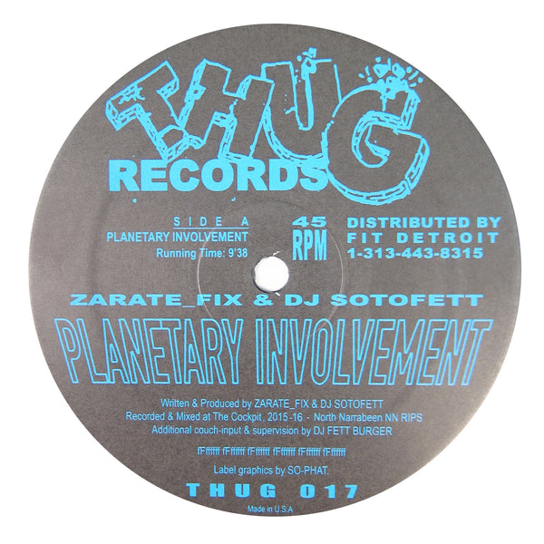Zarate_Fix & DJ Sotofett: Planetary Involvement Vinyl 12""