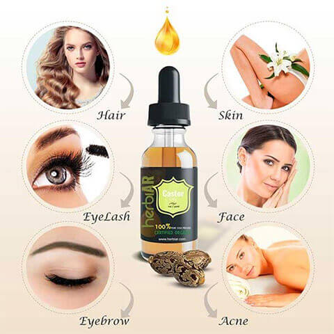 pure organic castor oil uses and benefits for hair, skin, eyelashes, face, eyebrows, etc.