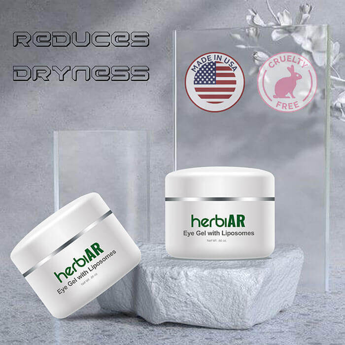 Liposomes eye gel to reduce dryness