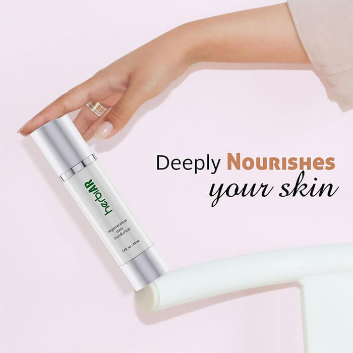Regenerative daily moisturizer that deeply nourishes skin