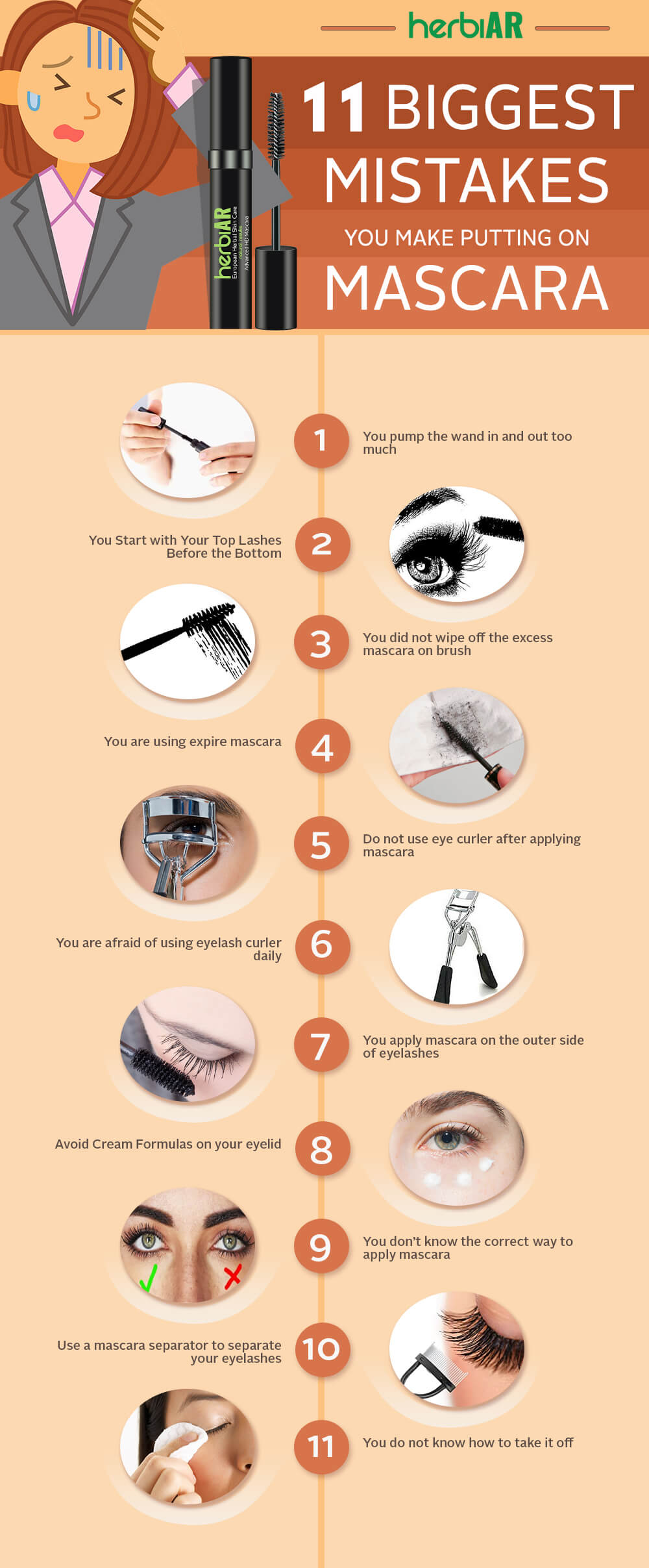 11 Biggest Mistakes You Make Putting on Mascara