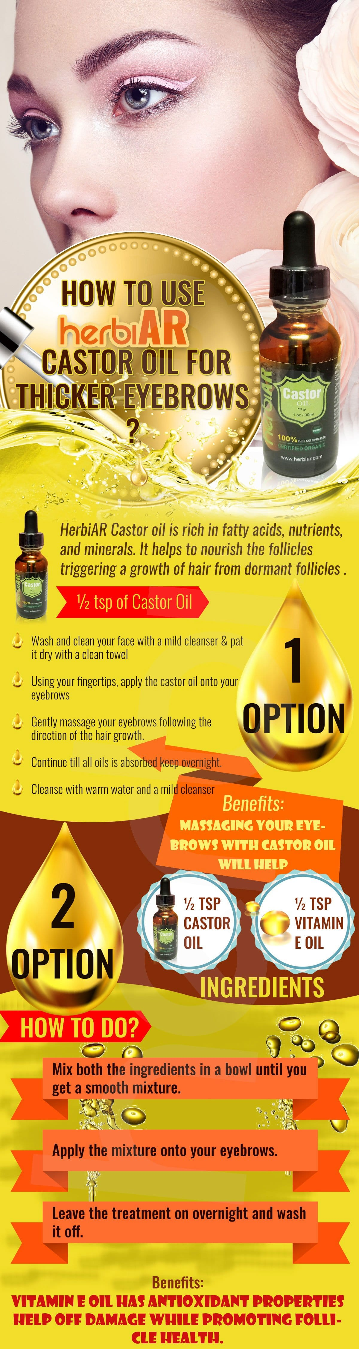 Use Castor Oil for Thicker Eyebrows