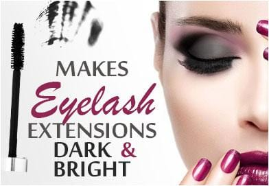 Makes Eyelash Extension Dark and Bright