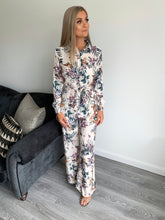 Load image into Gallery viewer, Rosie Fit and Flare Floral Print Jumpsuit
