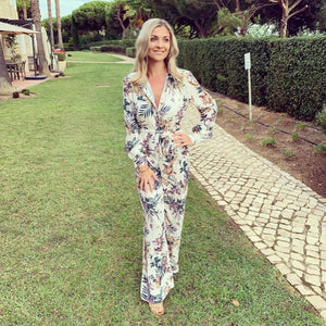 Rosie Fit and Flare Floral Print Jumpsuit