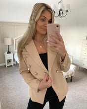 Load image into Gallery viewer, Blake Tailored Beige Gold Buttoned Blazer