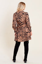 Load image into Gallery viewer, Mia Animal Print Dropped Hem Shirt Dress