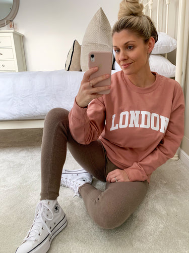 LONDON DUSTY PINK OVERSIZED SWEATSHIRT