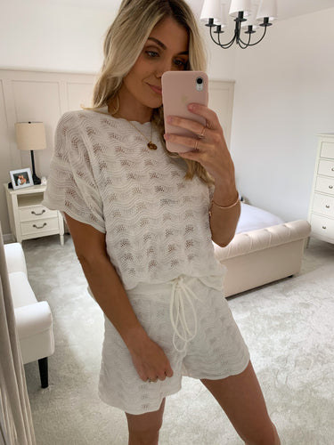 ZARA WHITE KNIT TWO PIECE