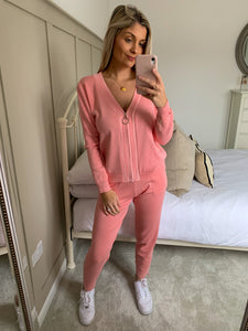 HAYLEY PINK STITCH LOUNGE SET