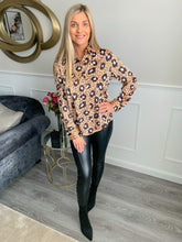 Load image into Gallery viewer, CLAUDIA ANIMAL PRINT BLOUSE
