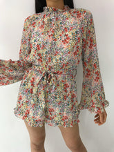 Load image into Gallery viewer, HARPER FLORAL BELL SLEEVE PLAYSUIT