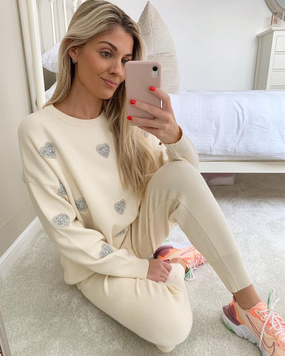 LOVE HEART KNITTED LOUNGE SET
