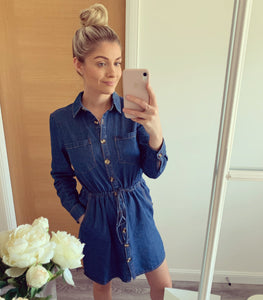 Millie Denim Button Front Dress