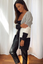 Load image into Gallery viewer, Lori Grey Panelled Longline Cardigan