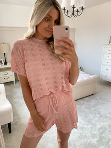 ZARA PEACH KNIT TWO PIECE