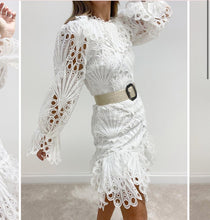 Load image into Gallery viewer, Fifi White Crochet Lace Dress