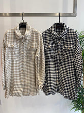 Load image into Gallery viewer, Charlotte Houndstooth Pearl Button Shirt Jacket