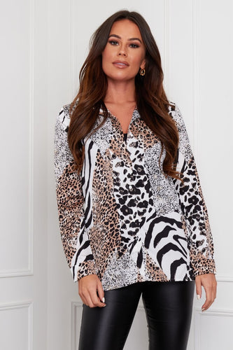 ROBYN ANIMAL PRINT BLOUSE