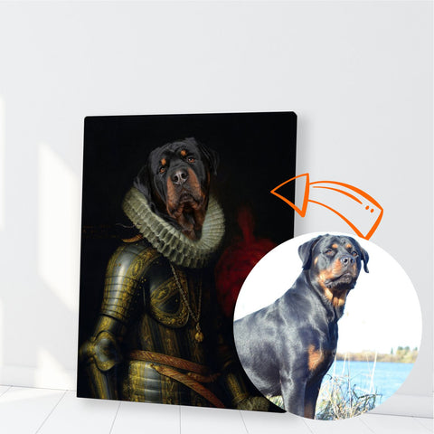 Image of Custom Pet Canvas, Knight of royal order