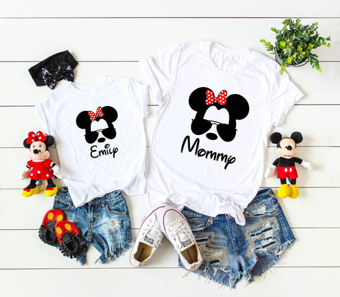 Disney Family Matching Shirts with Custom Name