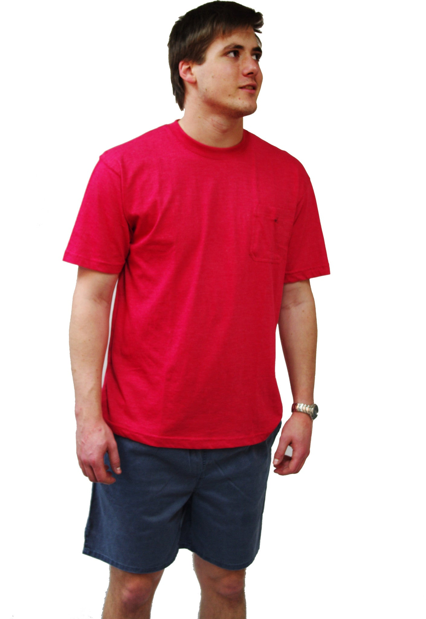 Mens Basic Cotton Tee - Red