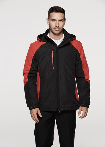 Napier Mens Outdoor Jacket - Black/Red