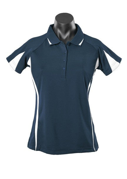 Eureka Ladies Polo - Navy/White