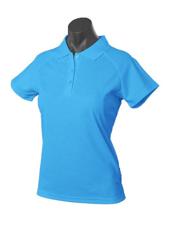 Keira Ladies Golf Polo - Pacific Blue