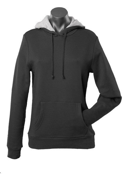 Ladies Hotham Fleece Hoodie - Black