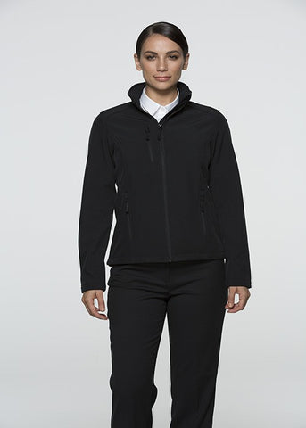 Olympus Ladies Softshell Jacket - Black