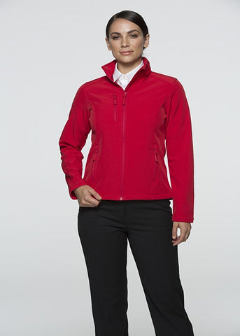 Olympus Ladies Softshell Jacket - Red