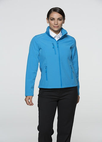 Olympus Ladies Softshell Jacket - Cyan