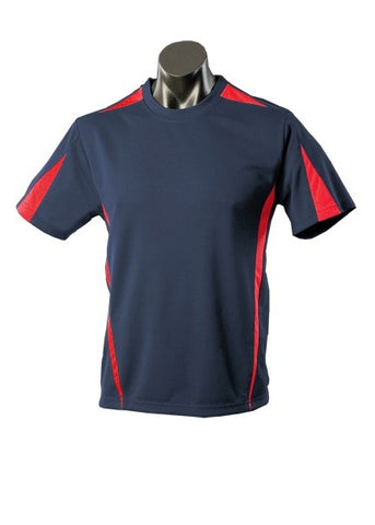 Kids Eureka Sports Tee - Navy/Red