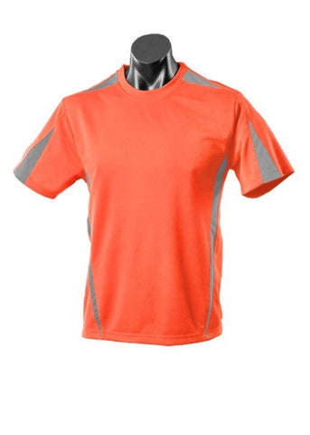Kids Eureka Sports Tee - Orange/Charcoal