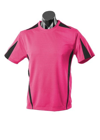 Kids Eureka Sports Tee - Hotpink/Black