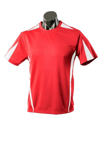 Kids Eureka Sports Tee - Red/White
